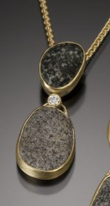 Rocks, Minerals, and Gemstones-18k Contrasting With Diamond Pendant